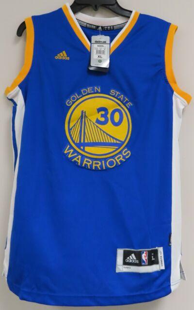 Stephen Curry 30 Golden State Warriors NBA adidas Boys Jersey Blue ...