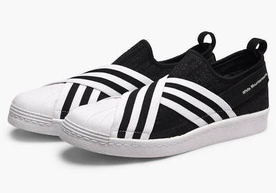 adidas Originals X White Mountaineering Men/'s Superstar Slip On Primeknit