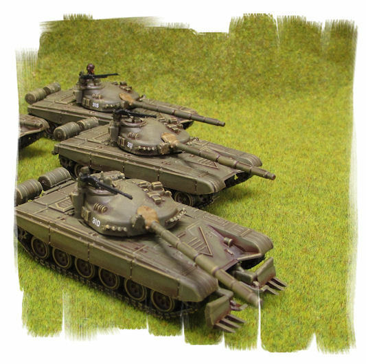 PAINTED   Soviet T-72 Tankovy Company (5 vehicles)   TEAM YANKEE 15mm