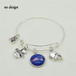 Image Is Loading New England Patriots Bracelet Silver Color Free Tracking
