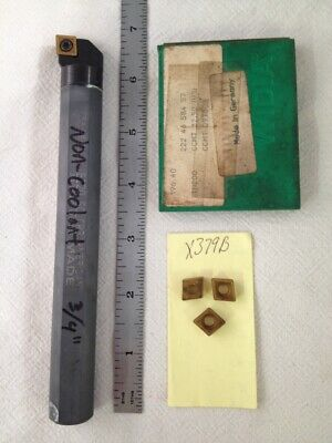 """Details about  /TOOL$AVER Solid Carbide Boring Bar 3//4 x 7/"""" C12-SCLCR3 CCMT 32.52 USA MADE"""