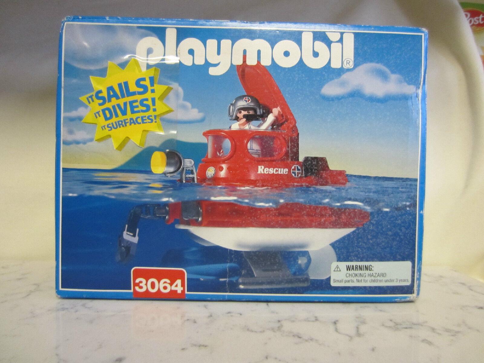 Playmobil  Playmobil 3064 Submarine Rescue  Geobra West GERuomoY  forma unica