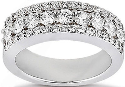 1.24 carat total Round DIAMOND Wedding Ring Anniversary Band F color VS clarity