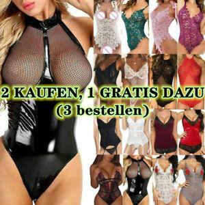 Sexy Damen Dessous Reizwäsche Body Nachtwäsche Glamour Unterwäsche Lingerie DE