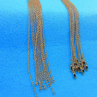 "1P Wholesale 16-18-20-22-24-26-28-30""18K Yellow GOLD Filled Rolo CHAIN NECKLACE"