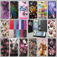 APPLE IPOD TOUCH 5 5TH & TOUCH 6 6TH GENERATION LEATHER WALLET PHONE CASE COVER