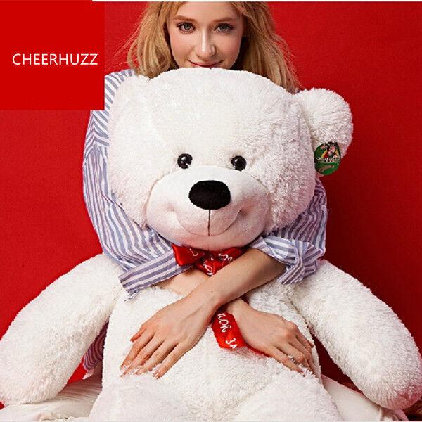47'' Teddy Bear Giant Huge Big Stuffed Animals bianca Plush Soft Toys Doll Gifts