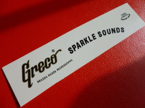 waterslide Metallic gold .. Greco Sparkle Sounds decal