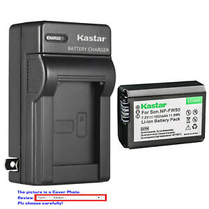 Kastar Battery AC Wall Charger for Sony NP-FW50 BC-VW1 Sony Cyber-shot DSC-RX10