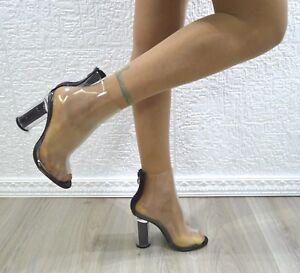 Tronchetto-donna-spuntato-tronchetti-trasparenti-sexy-con-zip-stivaletti-tacco