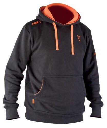 Fox Noir /& Orange Sweat//pullover À Capuche Vêtements de pêche Gr XL