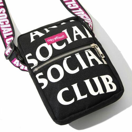 Anti Social Social Club 2019 It/'s The Remix Black Side Bag SHOULDER WAIST ASSC