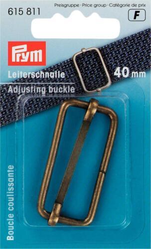 Prym  Leiterschnalle  40 mm altmessing  1 Stück 615811