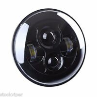 7 Motorcycle Projector Hid Led Light Bulb Headlight For Harley Clear Black