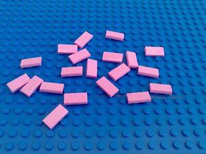 LEGO 10 X Carreau Tuile 3069b 1x2 Magenta