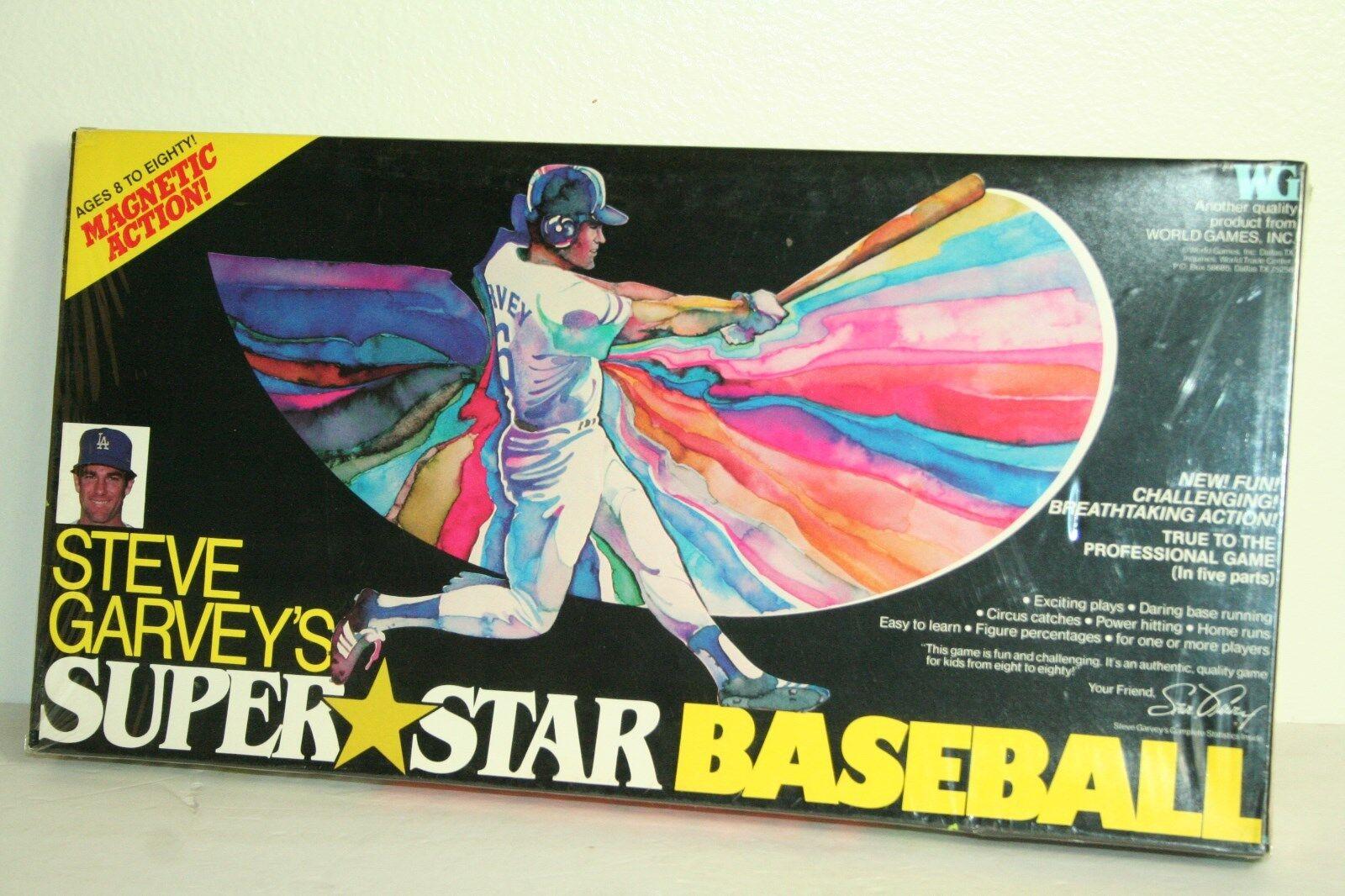 Vintage años 70 Steve Garvey súperEstrella Juegos Mundiales Juego De Béisbol Nuevo