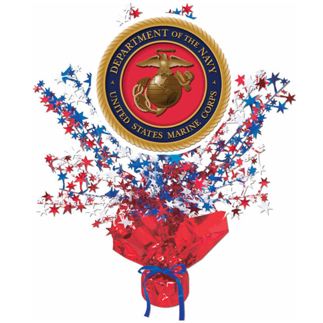 Us Marines Party Supplies Red White Blue Eagle Centerpiece