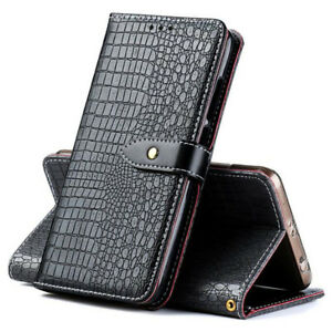 Details about Luxury Crocodile Pattern PU Leather Card Holder Wallet Flip  Cover For Vivo Phone