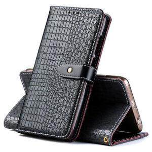 Luxury Crocodile PU Leather Card Holder Wallet Flip Cover