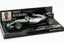 Nico Rosberg Mercedes f1 w07 ibrido #6 Weltmeister Abu Dhabi GP f1 2016 1:43 min