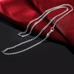 Chaine-Argent-mailles-034-Gourmette-034-2-mm-Diff-longueurs-Env-de-Fr-de-suite
