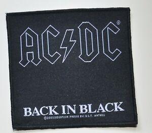 AC/DC - Back In Black - Patch - 9,5 cm x 10,1 cm - 164283