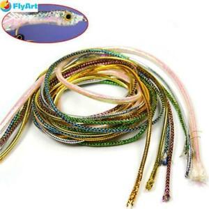 3.5mm Holographic Mylar Cord Flashabou Minnow Body Braid Flash Tubing