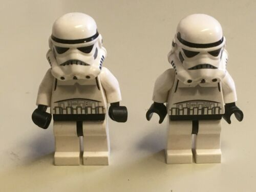 Lot of 2 Lego stormtroopers storm troopers with helmets 7667 8087 10188 7956