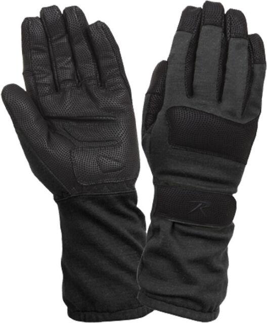 Black Fire Resistant Griplast Military Gloves 4421 Rothco