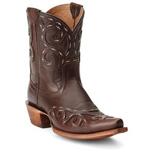 ARIAT-Women-039-s-8-034-Short-Rio-Brown-Tan-Leather-Snip-Toe-Cowgirl-Boots-10012850-NIB