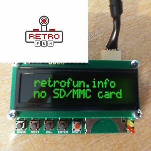 ATARI-SIO2SD-Disk-Drive-Emulation-with-LCD-GREEN-SD-Card-SIO-Cable-PnP