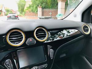 Opel-Adam-2019-farbige-3D-Lueftungsringe-Schaltknaufring