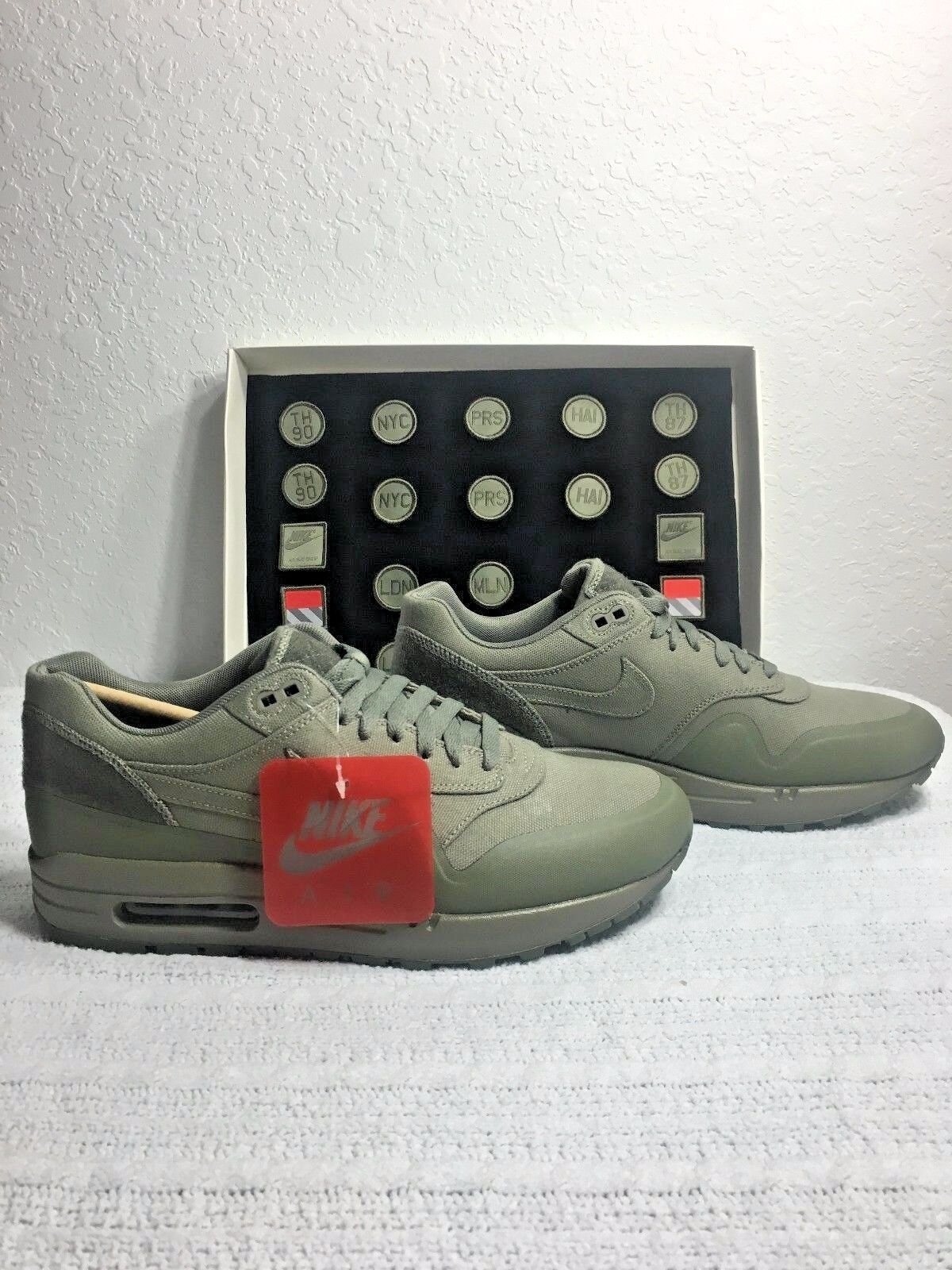 NIKE AIR MAX 1 V SP PATCH STEEL GREEN MEN SIZE 6 WOMENS SIZE 7.5 NEW 704901 300