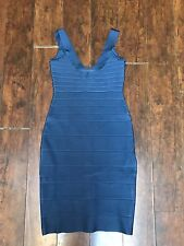 Herve Leger Scoop Neck Bandage Dress XXS, China Blue