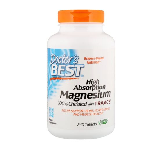 Doctor's Best High Absorption Magnesium 100% Chelated with TRAACS 240 Tabs