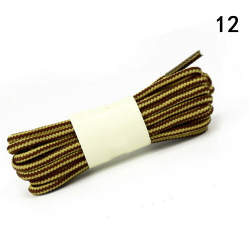 Chic 2 Colors Striped Round Shoelaces DIY for Boots Sport Casual Shoes Shoe Lace