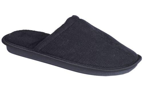 Mens Slip On Memory Foam Soft Clog Comfort Mule Textile Slippers