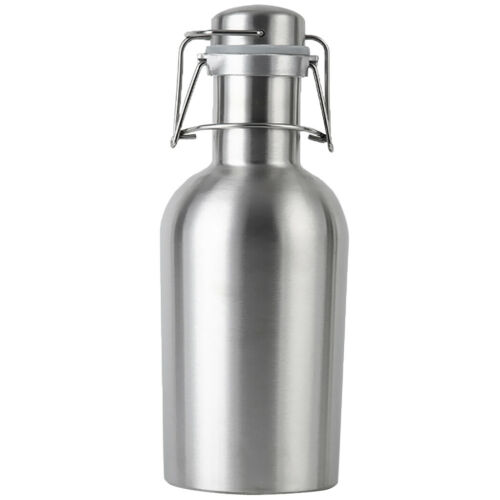 Insulated Beer Growler Stainless Steel Swing Top Hip Flask Bottle 1L//2L