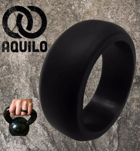AQUILO Silicone wedding Ring Band rubber ring Crossfit, Best Flexible -Durable