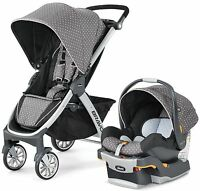 Chicco Bravo Lilla Travel System Single Seat Stroller