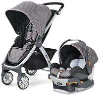Chicco Bravo Trio 3-in-1 Baby Travel System Stroller W/ Keyfit 30 Lilla