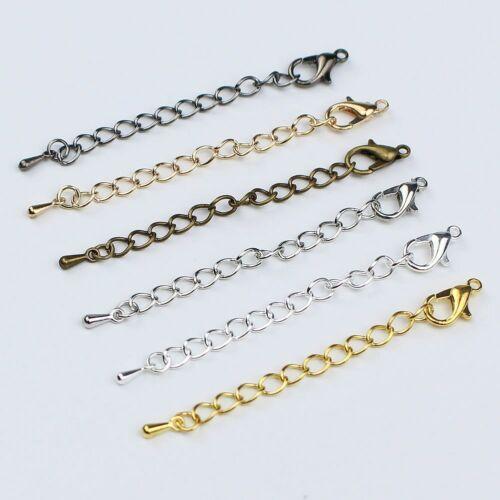 20pcs 5cm 7cm Extender Extension Chain with Lobster Clasps for Necklace Bracelet