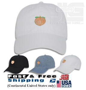 1ce2e0fd93af34 Image is loading Peach-Emoji-Embroidery-Dad-Hat-Adjustable-Polo-Style-