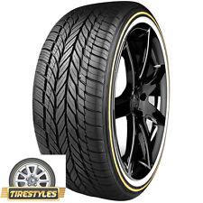 2 Vogue Tyre Custom Built Radial Viii 205 55r16 91h White N Gold Wall Tires