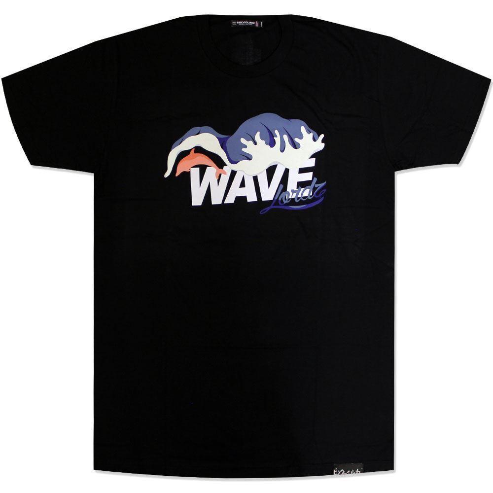 Pink Dolphin Waves Lordz T-Shirt black