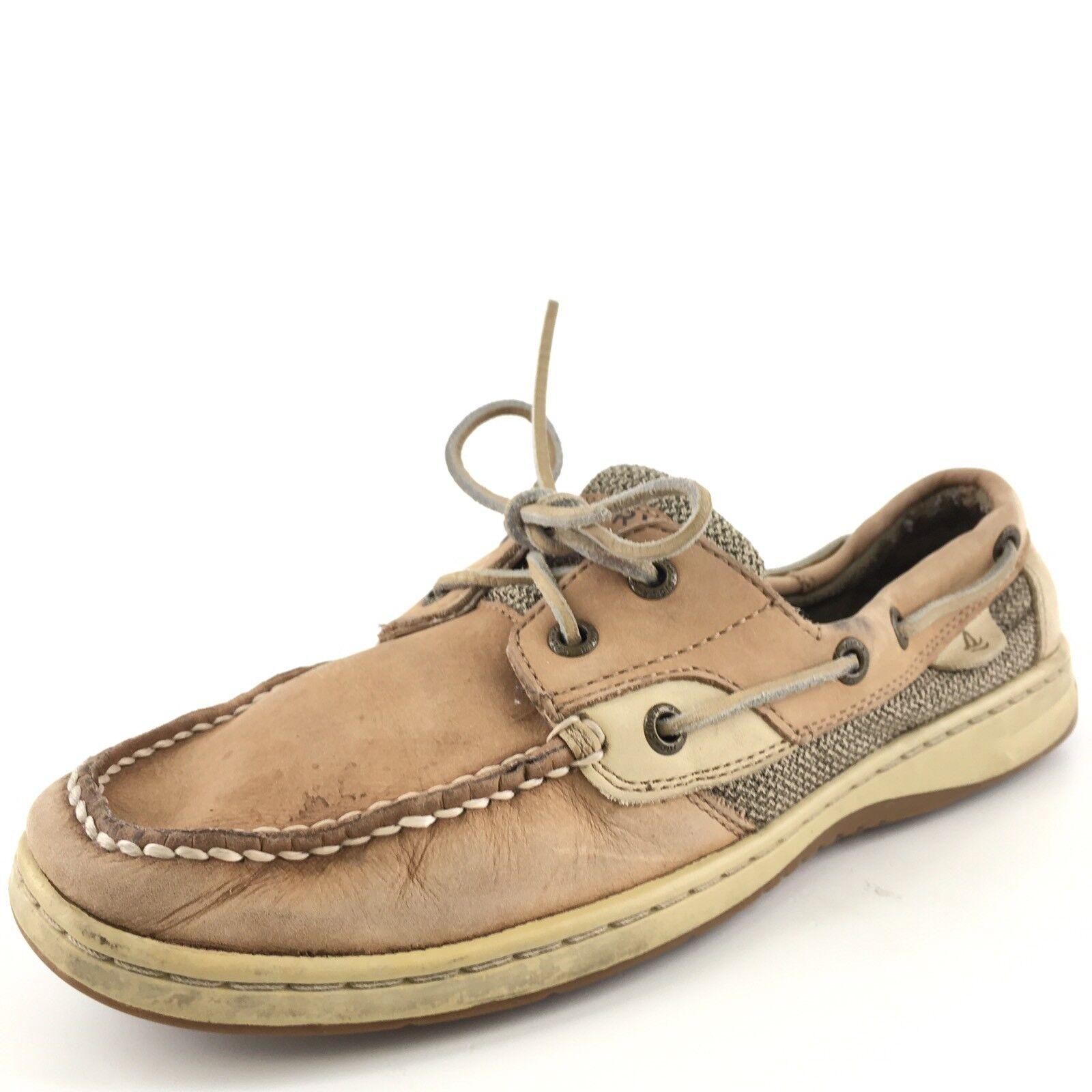 Sperry Top-Sider Sahara en Cuir marron Clair chaussures Bateau Femme Taille 9 M