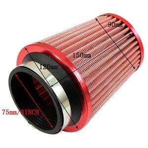 Finitura-Rosso-Universale-Auto-Kit-Induzione-Filtro-Aria-sport-ad-alta-potenza-cono-Mesh