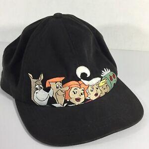Jetsons-Snapback-Vintage-Hat-Baseball-Cap-Warner-Bros-Black-Embroidered-Rare