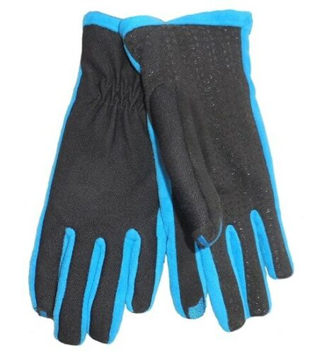 Isotoner Signature Active SmarTouch Women/'s Dynasty M L Black Blue New Gloves