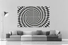 PSYCHEDELIC SPIRALE BLACK AND WHITE Wall Art Poster Grand format A0 Large
